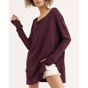 Free People New North Shore Thermal Fig Sorbet Top
